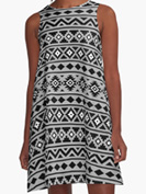Aztec Ess2 BWG RedBubble Dress