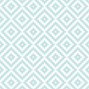 Aztec Block Ptn Blue & White 1