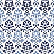 Feuille Damask Blues Cream