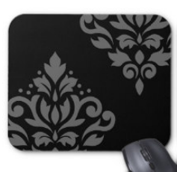 Scroll Damask Art I Mousepad