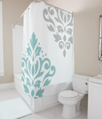 Scroll Damask Art I Shower Curtain