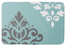 Scroll Damask Art I Bathmat