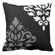 Scroll Damask Art I Pillow