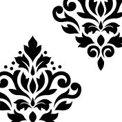 Scroll Damask Art I 1