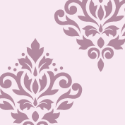 Scroll Damask Art I 8
