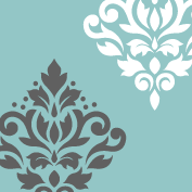 Scroll Damask Art I 12