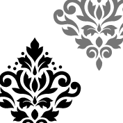 Scroll Damask Art I 7