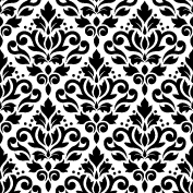 Scroll Damask Ptn BW