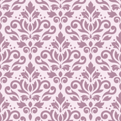 Scroll Damask Ptn Mauve on Pink
