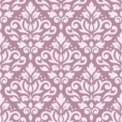 Scroll Damask Ptn Pink on Mauve