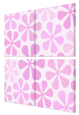 abstract flowers pink canvas art